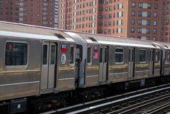 Subway train in New York City Royalty Free Stock Images