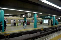 Subway train at Numba station Royalty Free Stock Photography