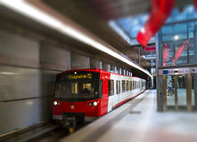 Subway train in Nuremberg Stock Photos