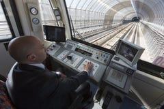 Subway train operator driver Royalty Free Stock Image
