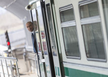 Subway train operator driver Stock Photography