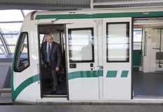 Subway train operator driver Stock Images