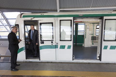 Subway train operator driver Royalty Free Stock Photos