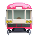 Subway train pink front Stock Photo