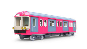 Subway train pink Royalty Free Stock Images