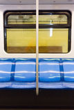 Subway train seats Stock Image