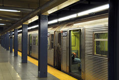 Subway Train Station New York Stock Image