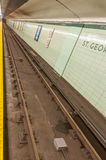 Subway train track Royalty Free Stock Images