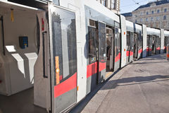 Subway. Train. Vienna. Train at the last station in Vienna Royalty Free Stock Photography