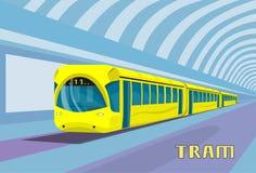 Free Subway Tram Modern City Public Transport Underground Rail Road Stock Photography - 69540972