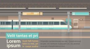 Subway Tram Modern City Public Transport, Underground Rail Road Station Royalty Free Stock Image