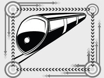 Subway transport icon Stock Image