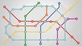 Subway transport scheme Royalty Free Stock Images