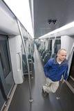Subway traveler Stock Photos