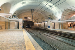 Rome underground train station Royalty Free Stock Photography