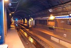 Subway tunnel Royalty Free Stock Photo