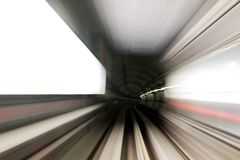 Subway tunnel Royalty Free Stock Photography