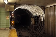 Subway tunnel Royalty Free Stock Image