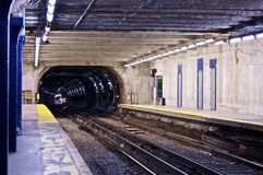 Subway tunnel Royalty Free Stock Photo
