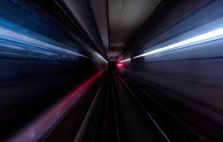 Subway tunnel motion speed rail background. Subway tunnel motion speed rail royalty free stock images