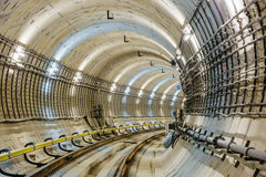 Subway tunnel Royalty Free Stock Images