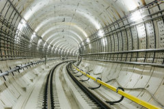 Subway tunnel Royalty Free Stock Image