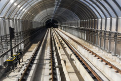 Subway tunnel no motion Royalty Free Stock Image