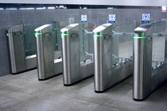 Subway turnstile Stock Photo