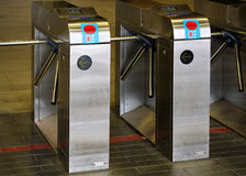 Subway Turnstiles Royalty Free Stock Photo