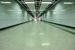Subway underground passage. Empty subway underground passage Stock Images