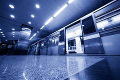 Subway. Underground train Stock Photography
