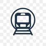 Subway vector icon isolated on transparent background, Subway t vector illustration