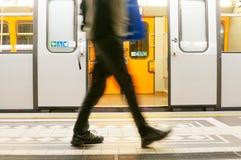 Subway in Vienna, Austria. Subway platform in Vienna, Austria Stock Image