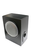 Subwoofer. Loudspeaker isolated over white Royalty Free Stock Image