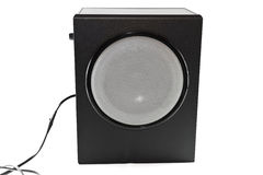 Subwoofer with Cable Royalty Free Stock Photo