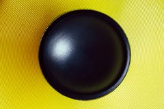 Subwoofer dynamic membrane or sound speaker, Hi-Fi loudspeaker macro shot royalty free stock photos