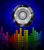 The subwoofer and equalizer Royalty Free Stock Photography