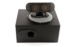 Subwoofer with Loudspeaker Royalty Free Stock Photos