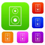 Subwoofer set color collection Royalty Free Stock Photo