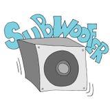 Subwoofer speaker drawing Stock Images