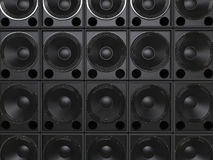 Subwoofer speakers Stock Photography
