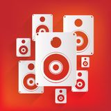 Subwoofer web icon Royalty Free Stock Photography
