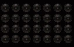 Subwoofers Wand lizenzfreie stockfotografie