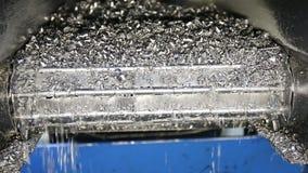 Sucata de aço movente do transporte e microplaquetas fazendo à máquina do tanque do líquido refrigerante ao escaninho filme