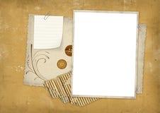 Sucata de papel da textura de Grunge ilustração stock
