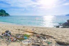 Sucata na praia Fotografia de Stock