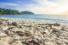 Sucata na praia Foto de Stock