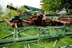 Sucata oxidada velha do ferro por muito tempo fotografia de stock royalty free