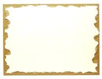 Sucata velha do cartão no branco Fotos de Stock Royalty Free