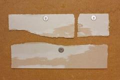 Sucatas de papel Fotografia de Stock